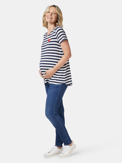 Christina Heart Maternity Tee