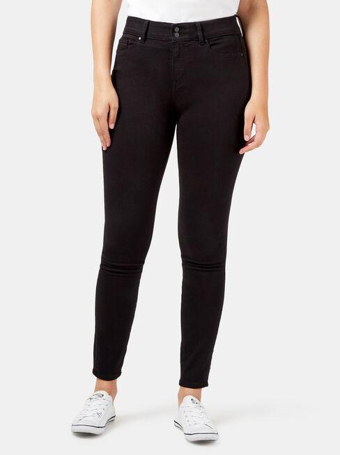 Tummy Trimmer Skinny Jeans Black Night