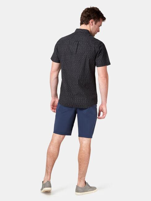 Gus Short Sleeve Textured Shirt, Black, hi-res