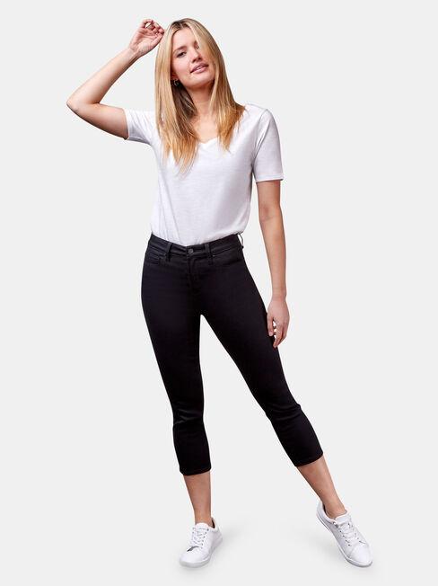 Kara Mid Waist Skinny Capri Black, Black, hi-res