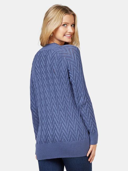 Juno Cable Knit, Blue, hi-res