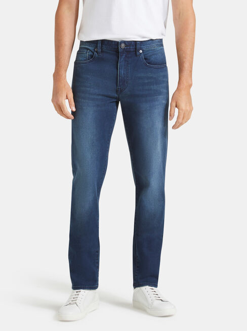 Denim Flex Slim Tapered Jeans Dark Indigo