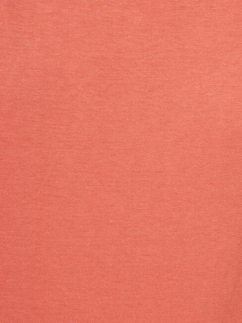 3/4 Sleeve Drop Shoulder Tee, Pink, hi-res