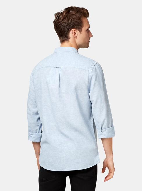Brando Long Sleeve Textured Shirt, Blue, hi-res
