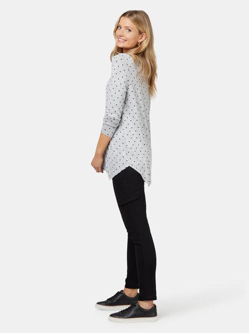 Amy Asymmetrical Hem Soft Touch Pullover, Multi, hi-res