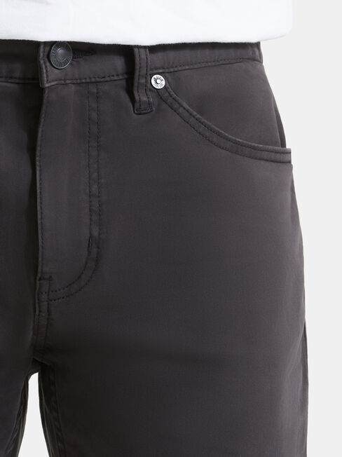 Slim Tapered Jeans Black Charcoal, Black, hi-res