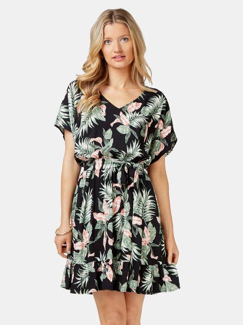Leah Ruffle Dress