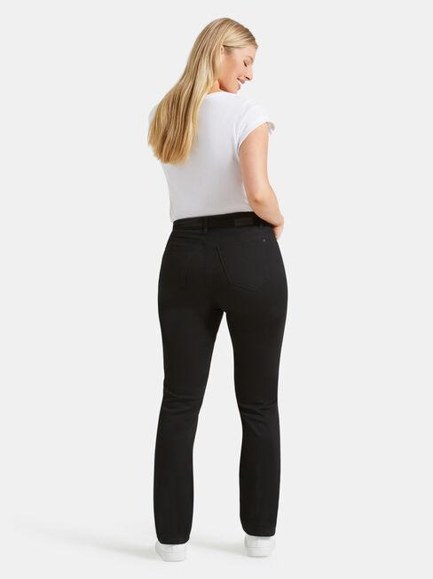 Curve Embracer Slim Straight Jeans Absolute Black, Black, hi-res