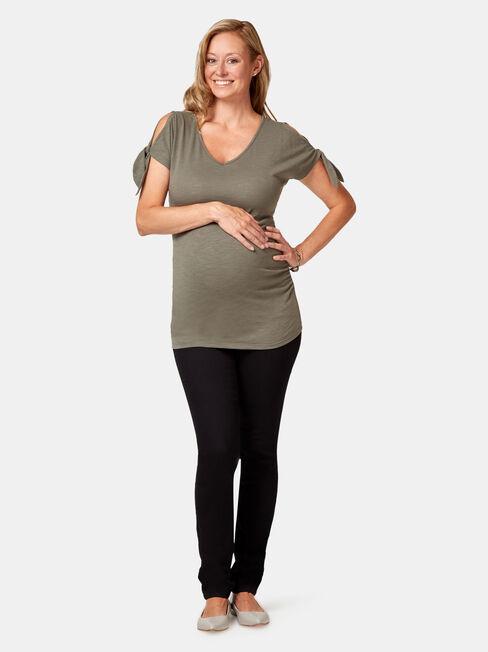 Maternity Skinny Jeans Absolute Black, Black, hi-res