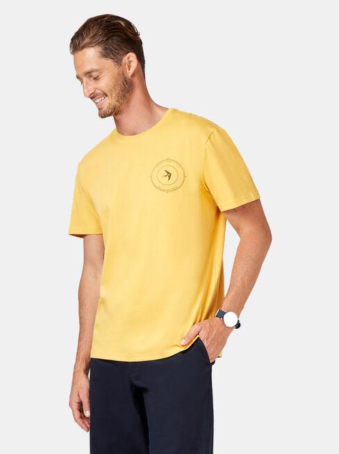 Echo Short Sleeve Print Tee, Yellow, hi-res