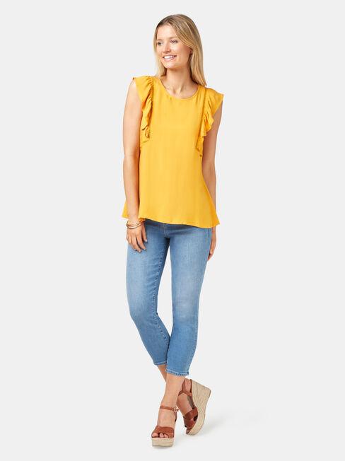 Bianca Ladder Tank, Yellow, hi-res