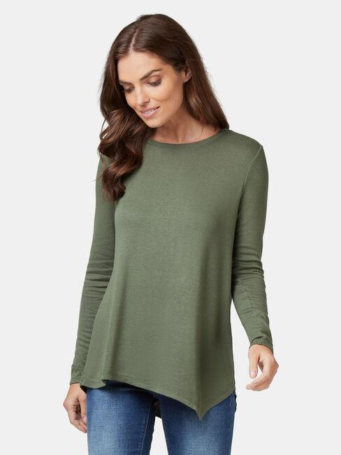 Amy Asymmetrical Hem Soft Touch Pullover
