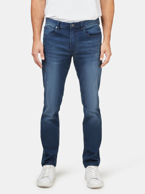 Slim Straight Knit Jeans Blue Black