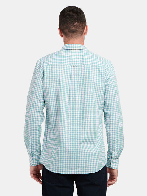 LS Taj Check Shirt, Green, hi-res