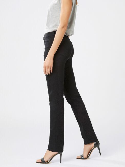 Slim Straight jeans Black, Black, hi-res
