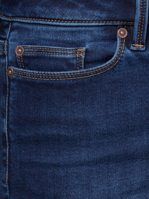 Feather Touch H/W Skinny 7/8 Jeans, Dark Indigo, hi-res