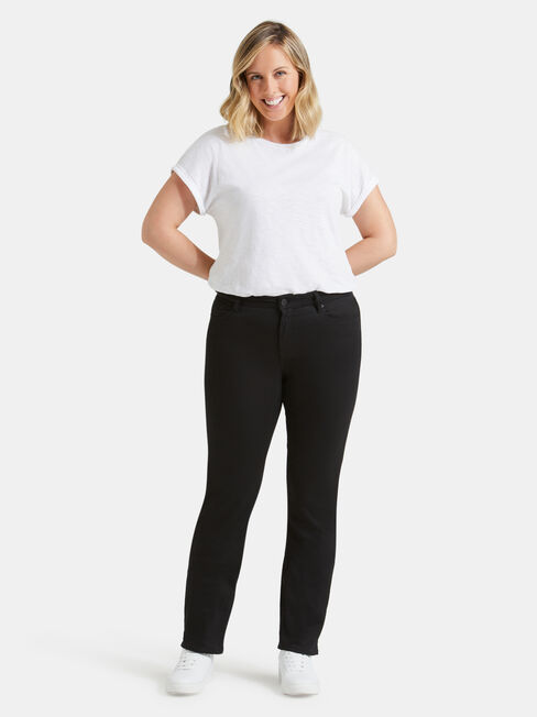 Curve Embracer Slim Straight Jeans Absolute Black, Black, hi-res