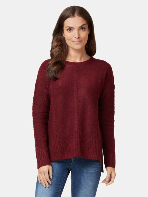 Pia Zig Zag Cable Knit