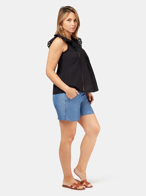 Gigi Chambray Maternity Short