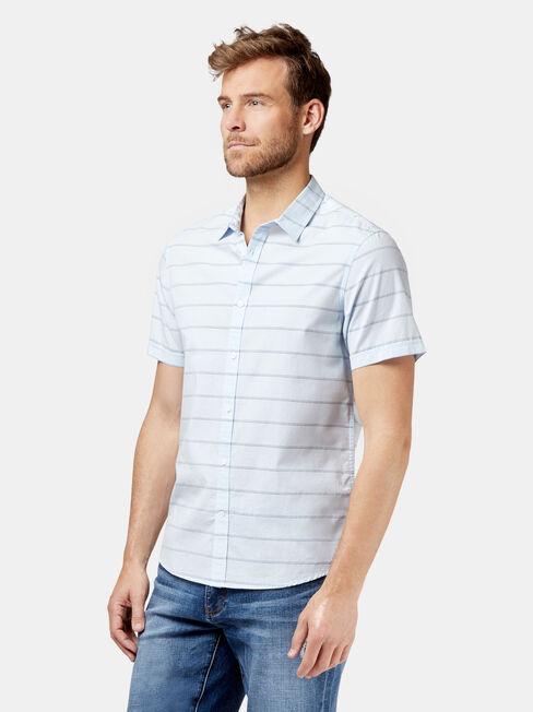 Sanford Short Sleeve Stripe Shirt, Blue, hi-res