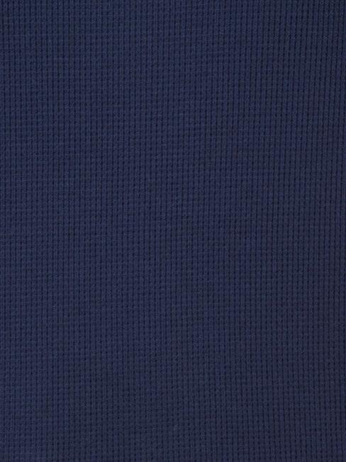 Max Curve Hem Textured Top, Blue, hi-res