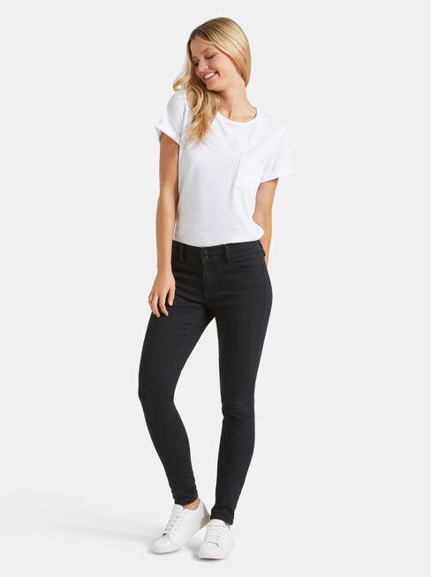 Hip Hugger Skinny Jeans Black Night