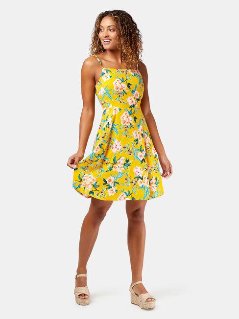 Emmy Printed Sundress, Yellow, hi-res