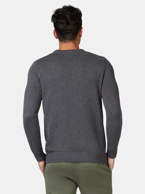 Reggie Crew Knit, Grey, hi-res
