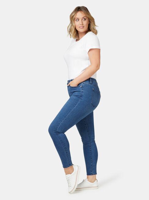 Eco Soft Curve Embracer Skinny 7/8 Jeans Bright Indigo