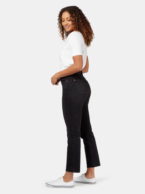 Tammy High Waisted Straight Crop, Black, hi-res