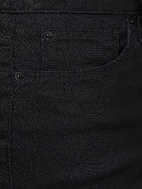 Mid Waisted Pedal Pusher Black, Black, hi-res