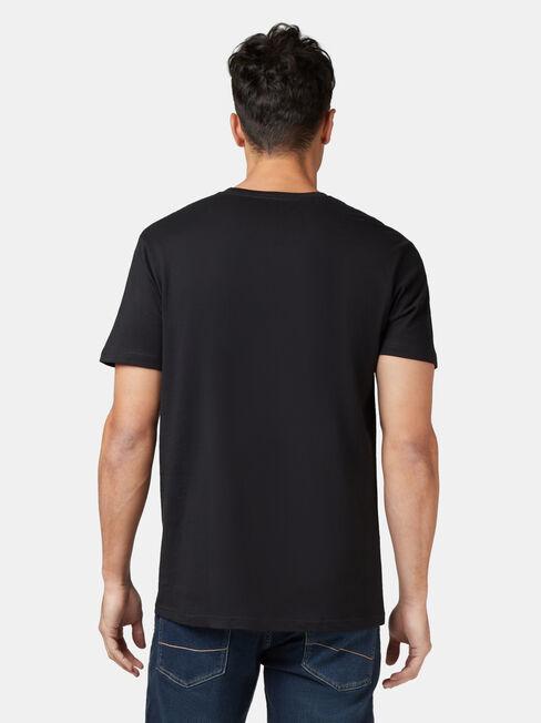 Basic Short Sleeve Tee, Black, hi-res