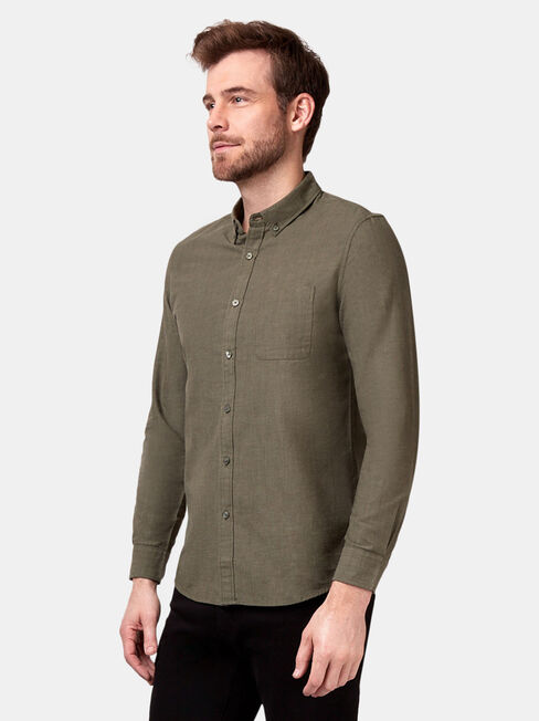 Bennett Long Sleeve Textured Shirt, Green, hi-res