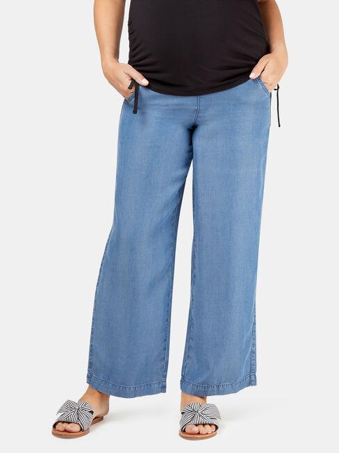 Alana Chambray Maternity Pants