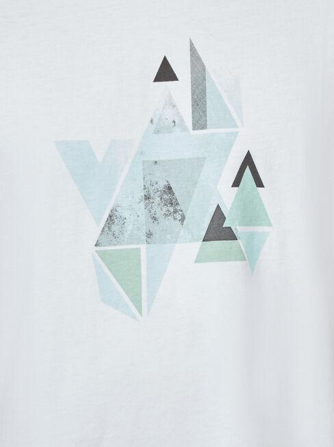 Davie Short Sleeve Print Crew Tee, White, hi-res