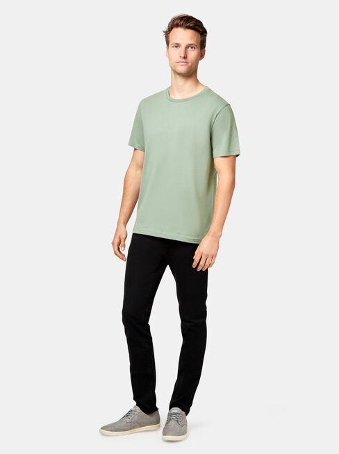 Pat Short Sleeve Basic Tee, Green, hi-res