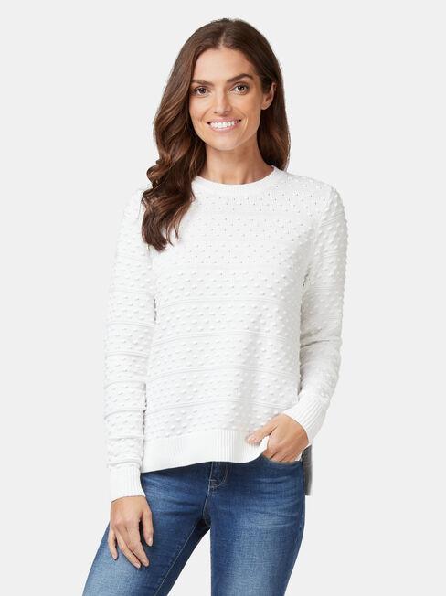 Lyn Linear Bobble Knit