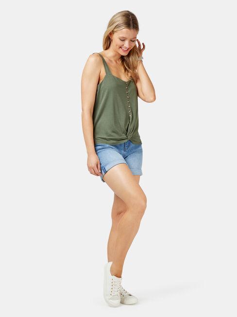 Rose Jersey Cami, Green, hi-res