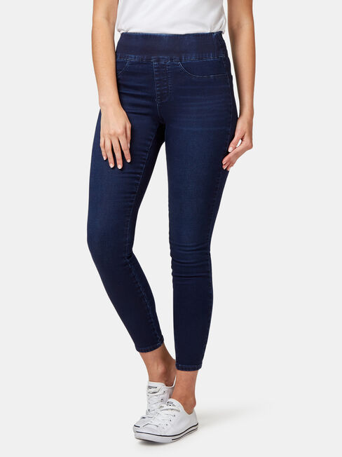 Tummy Trimmer Luxe Lounge Skinny Jeans Dark Indigo
