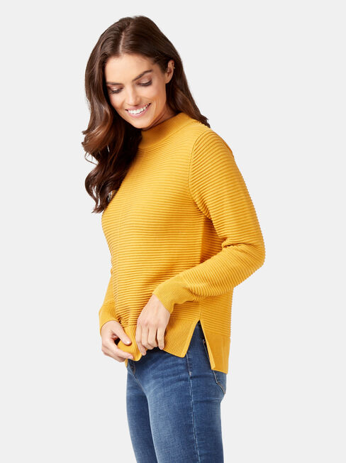 Hailey Cotton Knit, Yellow, hi-res