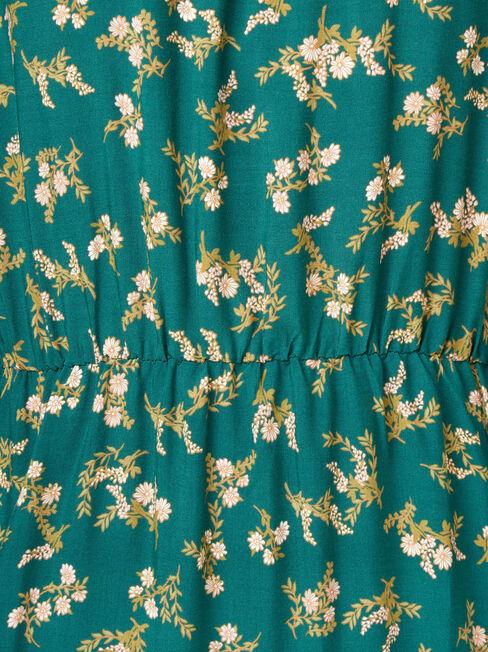 Anna Printed Dress, Green, hi-res