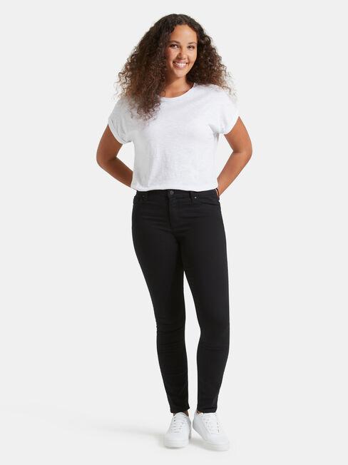 Skinny Jeans Black Night, Black, hi-res