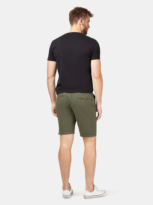 Tommy Tie Front Short, Green, hi-res