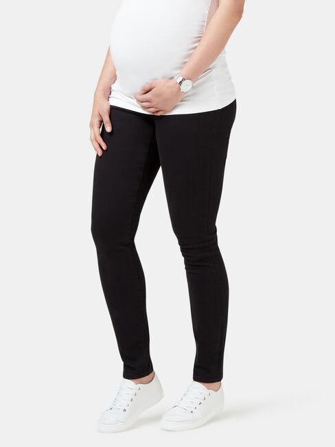 Maternity Skinny Jeans Black Night, Black, hi-res