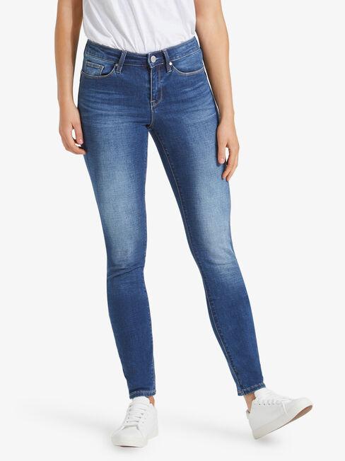 Butt Lifter Skinny Jeans, Mid Indigo, hi-res