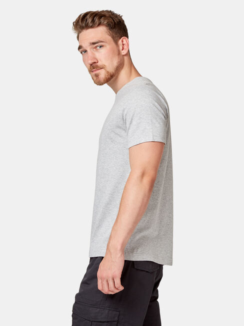 Basic Short Sleeve Tee, Grey, hi-res