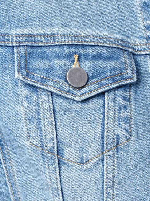 Lula Denim Jacket, Blue, hi-res
