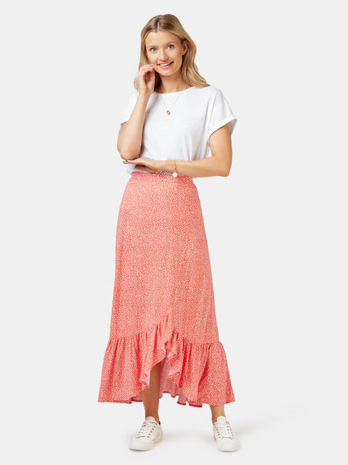 Iris Concave Skirt, Orange, hi-res