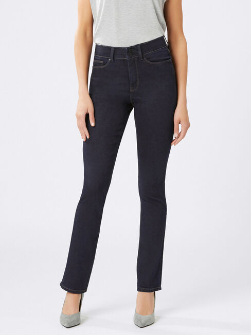 Tummy Trimmer Slim Straight Jeans  Absolute Indigo