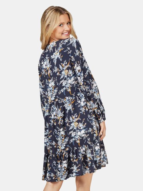 Bella Botanical Dress, Floral, hi-res